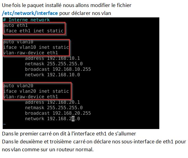 Routage Inter-Vlan Sur Linux